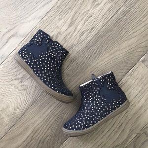 Girls Cat & Jack gold star boots, never worn